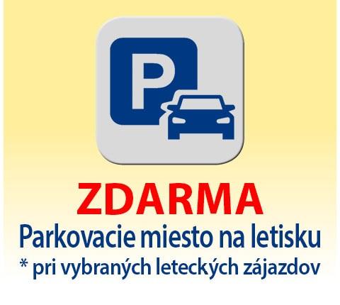 Parkovacie miesto na letisku zdarma